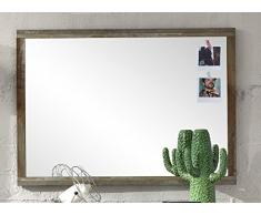 Stella Trading BZDD643050 Wandspiegel Spiegel, Holz, braun, 98 x 70 x 2 cm