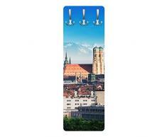 Apalis 79190 Wandgarderobe München | Design Garderobe Garderobenpaneel Kleiderhaken Flurgarderobe Hakenleiste Holz Standgarderobe Hängegarderobe | 139x46cm