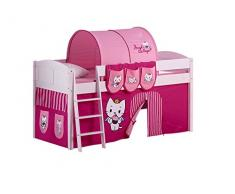 Lilokids IDA4106KW-ACS Kinderbett, Holz, angel cat sugar, 208 x 98 x 113 cm