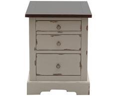 SIT-Möbel 9762-97 Rollcontainer Spa, Akazie massiv, Farbe taupe, 3 Schubladen, auf Rollen, Schubladeninnenmaß 42 x 29,5 cm, Höhe oben 7,8 cm mittig 11,8 cm, unten 16,8 cm, 48 x 55 x 62 cm