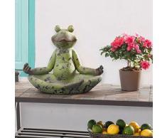 sunjoy grün Finish 38,1 cm Großer Frosch Garten Statue in Lotus Position