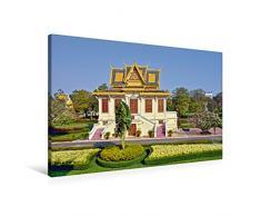 Premium Textil-Leinwand 90 x 60 cm Quer-Format Pavillon im Königspalast in Phnom Phen   Wandbild, HD-Bild auf Keilrahmen, Fertigbild auf hochwertigem Vlies, Leinwanddruck von Harry Müller