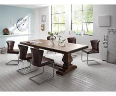 Massivum Tasmay Tischgruppe, Holz, braun, 105 x 240 x 77 cm
