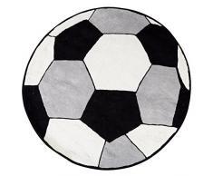 Premier Housewares Kinder Fußball Teppich, Baumwolle, Schwarz