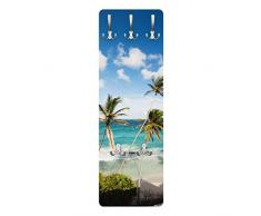 Apalis 78544 Wandgarderobe Beach of Barbados | Design Garderobe Garderobenpaneel Kleiderhaken Flurgarderobe Hakenleiste Holz Standgarderobe Hängegarderobe | 139x46cm