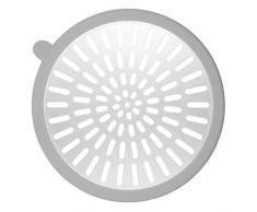 iDesign 22750EU Metro Ultra Ablaufschutz Duschkabine, 13,3 x 12, 6 x 0,4 cm, grau/silber, Aluminum