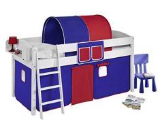 Lilokids IDA4105KW-BLAU-ROT Kinderbett, Holz, blau / rot, 208 x 98 x 113 cm