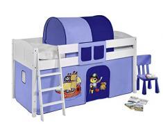 Lilokids IDA4106KW-PIRAT-BLAU Kinderbett, Holz, pirat blau, 208 x 98 x 113 cm