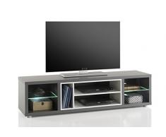 Stella Trading Shades 3 TV Lowboard, Holz, grau, 140 x 37 x 36 cm