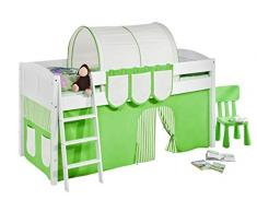 Lilokids IDA4106KW-GRUEN-BEIGE-S Kinderbett, Holz, grün / beige, 208 x 98 x 113 cm