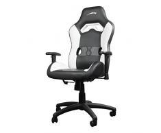 SPEEDLINK Looter Gamingstuhl, ergonomischer Bürostuhl, Schreibtischstuhl, Drehstuhl, Gaming Chair, Racing Stuhl, Sportsitz, Chefsessel aus hochwertigem PVC Leder in schwarz/weiß