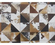 SIT-Möbel 1023-30 Teppich This und That, 200 x 300 cm, gefärbtes Kuhfell, dessin braun / weiß