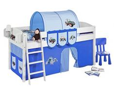 Lilokids IDA4105KW-TRECKER-BLAU Kinderbett, Holz, trecker blau, 208 x 98 x 113 cm