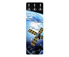 Apalis 79534 Wandgarderobe Space Runner | Design Garderobe Garderobenpaneel Kleiderhaken Flurgarderobe Hakenleiste Holz Standgarderobe Hängegarderobe | 139x46cm
