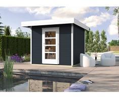 Weka Gartenhaus, Designhaus Line 172 Größe 2, 28 mm, ET, anthrazit, 279x316x226 cm, 172.2424.76001