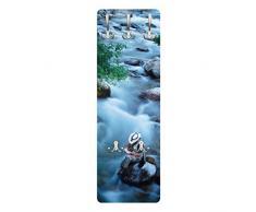 Apalis 78873 Wandgarderobe Fliegenfischer in Colorado | Design Garderobe Garderobenpaneel Kleiderhaken Flurgarderobe Hakenleiste Holz Standgarderobe Hängegarderobe | 139x46cm