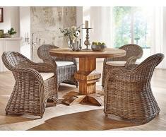 Massivum Aro Tischgruppe, Holz, braun, 120 x 120 x 79 cm
