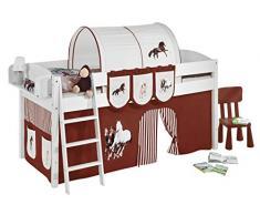 Lilokids IDA4105KW-PFERDE-BRAUN Kinderbett, Holz, pferd braun, 208 x 98 x 113 cm