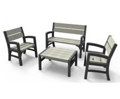 Keter Lounge Set, WLF, graphit/braungrau, 67x62x89,5 cm, 17205049