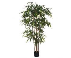 MICA Decorations Bambus im Kunststofftopf Kunstpflanze, Polyester, grün, 75 x 75 x 180 cm