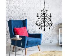 Walplus Möbel Sets Kronleuchter abnehmbarer selbstklebend, schwarz, 34x 82cm