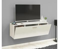 VCM TV Wand Board Fernsehtisch Lowboard Wohnwand Regal Wandschrank Schrank Tisch Hängend Weiß 40 x 115 x 36 cm Fernso