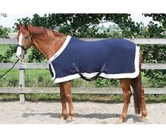 Harrys Horse 32200086-07185cm Fleecedecke Prunkmodell mit Bauchlatz, M, Marine