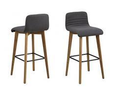 AC Design Furniture William Barhocker, Stoff, Anthrazit, 47 x 44 x 101 cm