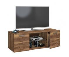VCM TV Lowboard Fernseh Schrank Möbel Tisch Holz Sideboard Medien Rack Bank Kern-nussbaum 40 x 115 x 36 cm Lowina