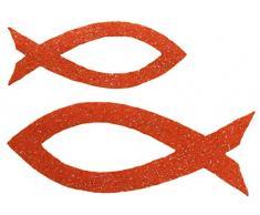 Petras Bastel News Streudeko, Fliz, orange, 18 x 12 x 5 cm