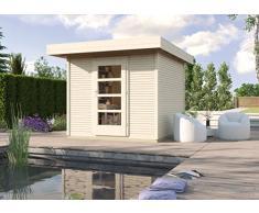 Weka Gartenhaus, Designhaus Line 172 Größe 2, 28 mm, ET, natur, 279x316x226 cm, 172.2424.70001