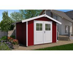 Haus des Jahres: Gartenhaus 122, schwedenrot, 28 mm, V20 cm, DT