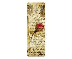 Apalis 79028 Wandgarderobe Heavenly Postcard | Design Garderobe Garderobenpaneel Kleiderhaken Flurgarderobe Hakenleiste Holz Standgarderobe Hängegarderobe | 139x46cm
