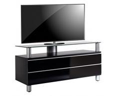 VCM TV Lowboard Schrank Tisch Rack Fernseh Fernsehtisch Konsole Möbel schwarzlack/schwarzglas 55 x 120 x 40 cm Dasano