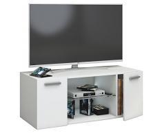 VCM TV Schrank Lowboard Tisch Board Fernseh Sideboard Wandschrank Wohnwand Holz Weiß 40 x 95 x 36 cmJusa
