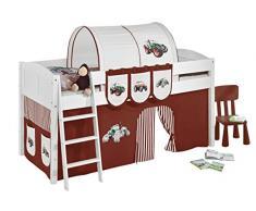 Lilokids IDA4106KW-TRECKER-BRAUN Kinderbett, Holz, trecker braun, 208 x 98 x 113 cm