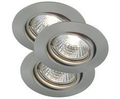 Nordlux 54540132 Deckenleuchte, Metall, GU10, 11 cm, silber