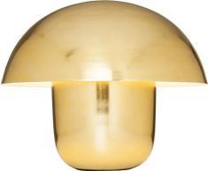 KARE moderne, große Tischleuchte, Metall, Design Pilzoptik gold, Nachttischlampe Mushroom