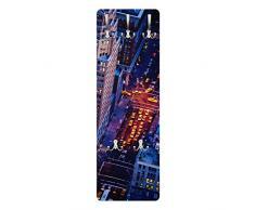 Apalis 79160 Wandgarderobe Manhattans Taxilichter | Design Garderobe Garderobenpaneel Kleiderhaken Flurgarderobe Hakenleiste Holz Standgarderobe Hängegarderobe | 139x46cm