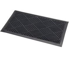 Addis Brent Thirsk Fußmatte mit Hoch saugfähig 100Prozent Polypropylen Parkett Design Flor, schwarz, 70x 40cm