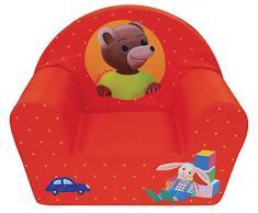 Unbekannt Fun House 712583Kleiner Bär Sessel Club für Kinder Schaumstoff/Bezug Polyester Rot 52x 33x 42cm