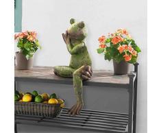 sunjoy grün Finish 63,5 cm Große sitzende Frosch Garten Statue