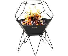 barbecook Jura Feuerschale schwarz 60 x 60 x 75 cm