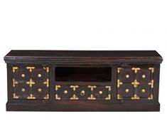 SIT-Möbel 7421-30 Lowboard Vasco, antikfinish, recyceltes Altholz, 140 x 40 x 50 cm, braun