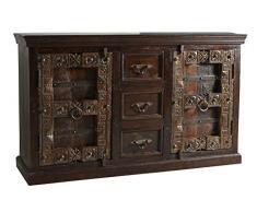 SIT-Möbel 5103-30 Sideboard Almirah, 150 x 45 x 90 cm, recyceltes Holz, braun