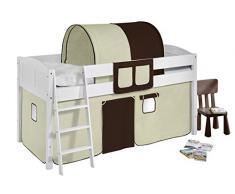 Lilokids IDA4106KW-BRAUN-BEIGE Kinderbett, Holz, braun / beige, 208 x 98 x 113 cm