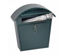 Phoenix Safe Firma Clasico Frontlader Briefkasten Schloss und Schlüssel, Metall, grün