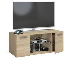 VCM TV Schrank Lowboard Tisch Board Fernseh Sideboard Wandschrank Wohnwand Holz Sonoma-eiche 40 x 95 x 36 cm Jusa