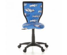 Kinderschreibtischstuhl / Kinderstuhl KIDDY LUX Cars Stoff blau hjh OFFICE