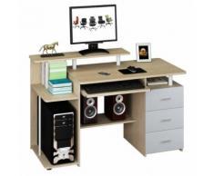 Computertisch / Schreibtisch STELLA Eiche hell mit Standcontainer hjh OFFICE